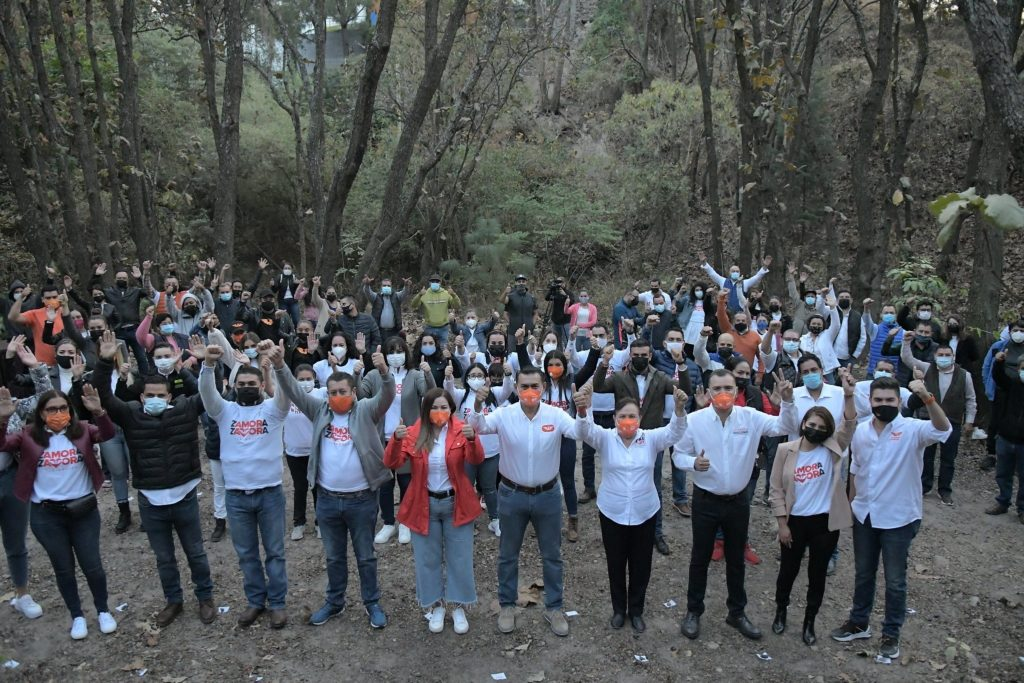 Arranque de campaña de Salvador Zamora en el bosque La Primavera