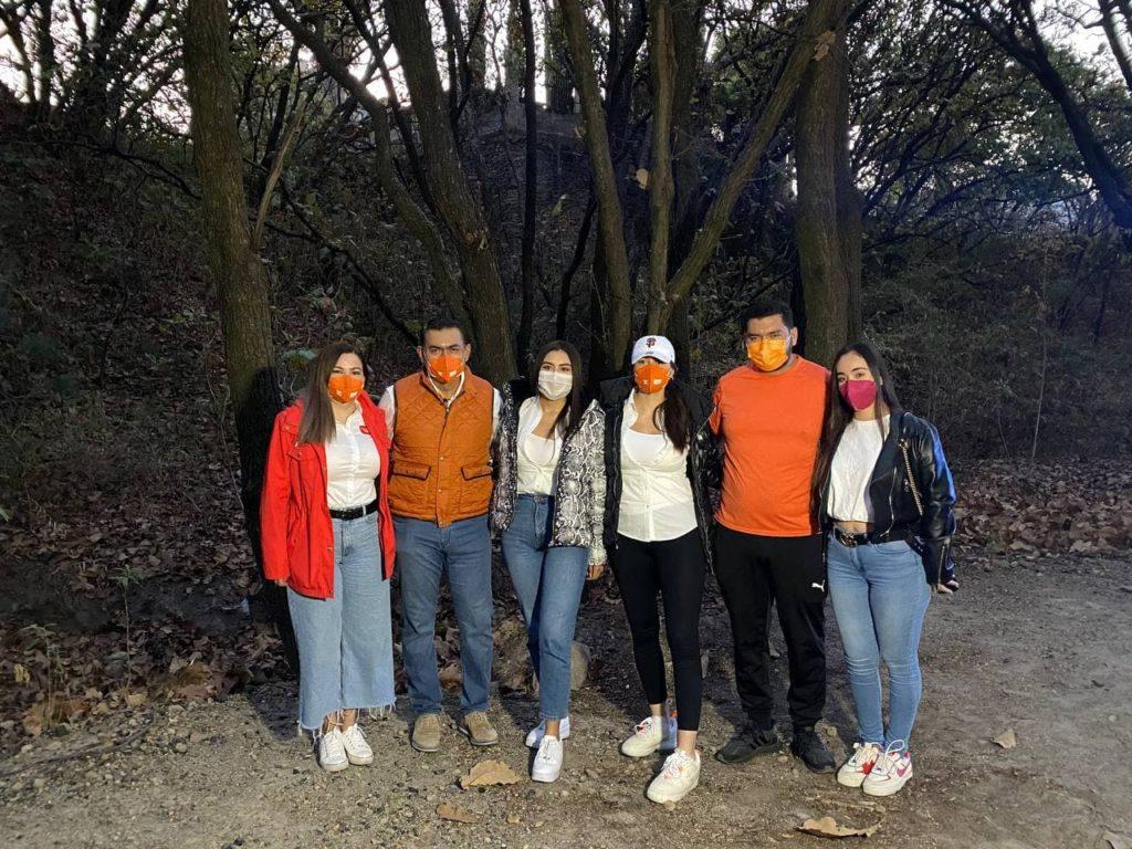 Salvador Zamora con su familia en el arranque de campaña para elecciones 2021
